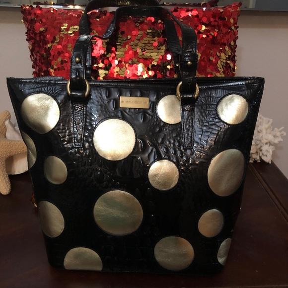 64ba432dee74 Brahmin Bags   Polka Dot Croc Leather Shopper   Poshmark
